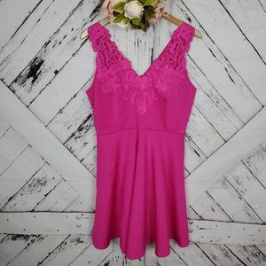 Ted Baker Embroidered Dress Fuchsia 4
